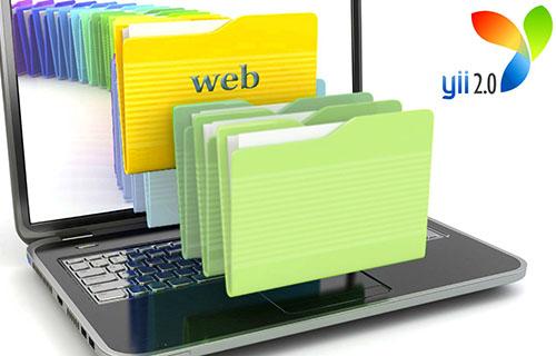 Как убрать папку web в Yii2