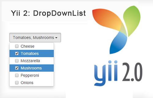 Yii2: Выпадающий список DropDownList