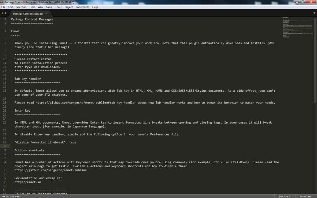 Установка плагина emmet для Sublime Text
