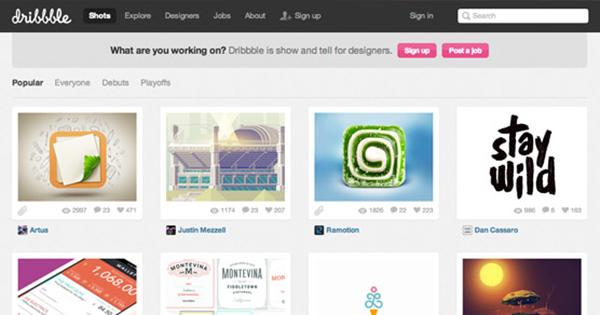 dribbble сервис для дизайнеров
